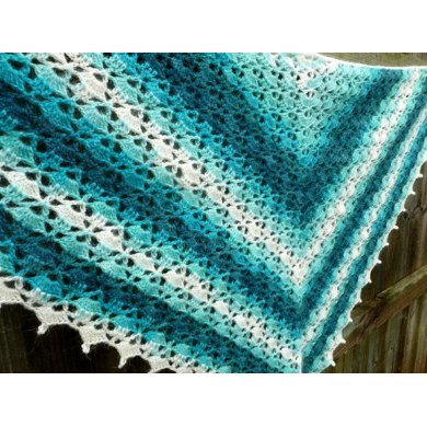 Triangle Batik Shawl