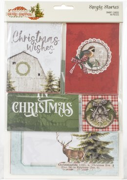 Simple Stories Sn@p! Card Pack 48/Pkg - Country Christmas