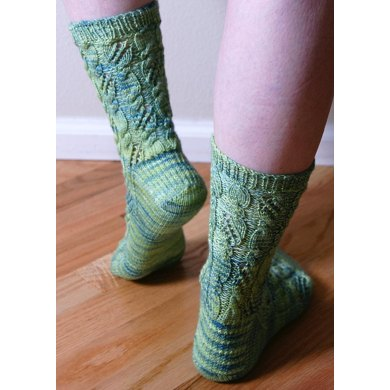 Cable & Lace Socks