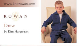 Drew Cardigan in Rowan Original Denim