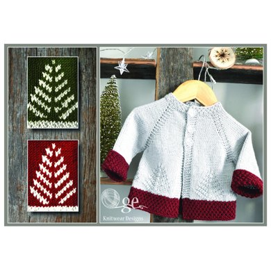 Fir Christmas Cardigan P138 Knitting Pattern By Oge Knitwear Designs