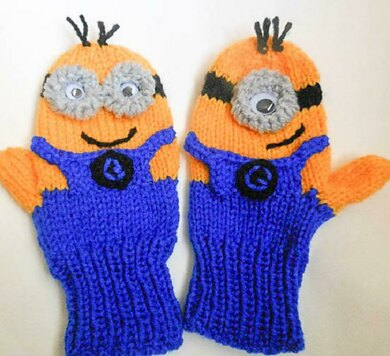 Funny Character Mittens Knitted Version