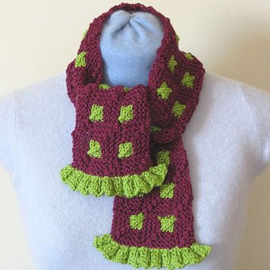 Mitred Square Scarf 014