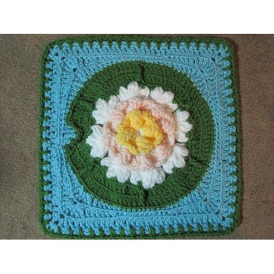 Water Lily Afghan Square