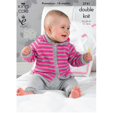 Poncho, Cardigan and Jacket with Hood in King Cole Comfort Baby DK - 3741
