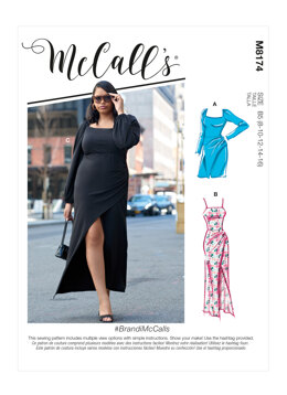 McCall's Misses' & Women's Dresses M8174 - Sewing Pattern