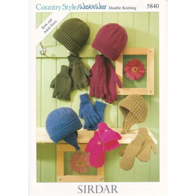 Gloves and Hats in Sirdar Country Style DK - 5840