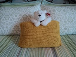 Knit in the round Pillow