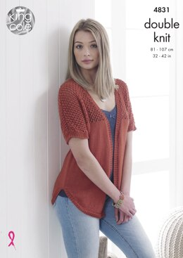 Cardigan & Sweater in King Cole Smooth DK - 4831 - Downloadable PDF