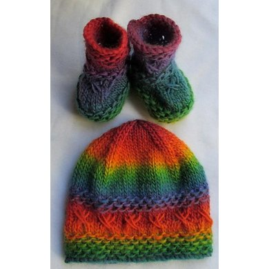 Kisses Baby Hat and Boots