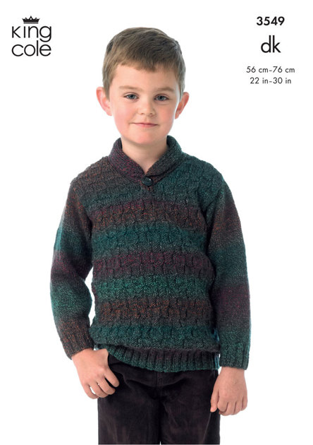 Boy S Sweater And Slipover In King Cole Melody Dk Amp Melody