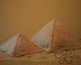 Free Pyramids Knitting Pattern 3D Toy Scenery Snoo's Knits
