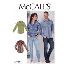 McCall's Misses' and Men's Shirts M7980 - Sewing Pattern