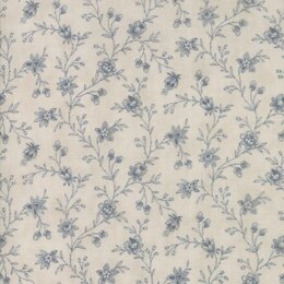 Moda Fabrics 3 Sisters Snowberry Cloud Sky Floral Vine Light Blue