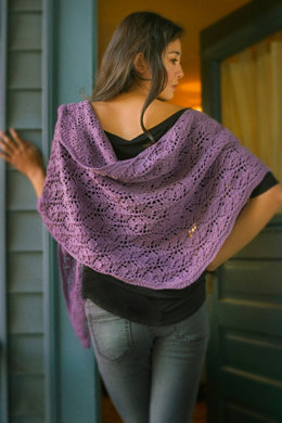 Rhombus Feather Shawl in Imperial Yarn Tracie Too - PC16 - Downloadable PDF