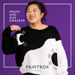 Moon & Sun Sweater - Free Jumper Knitting Pattern For Women in Paintbox Yarns Simply DK by Paintbox Yarns