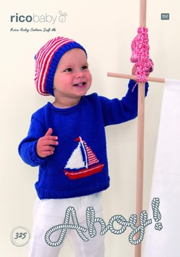 Sweater and Hat in Rico Baby Cotton Soft DK - 325