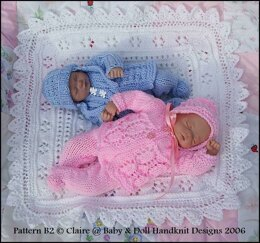 "Traditional Layette for 7-12"" doll"