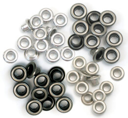 We R Memory Keepers We R Eyelets Standard 60/Pkg - Cool Metal