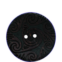 Galic Etched Coconut 41mm 2-Hole Button