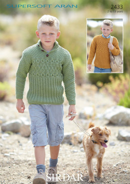 Sweaters in Sirdar Supersoft Aran - 2433