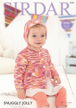 Bonnet and Jacket in Sirdar Snuggly Jolly - 4725 - Downloadable PDF