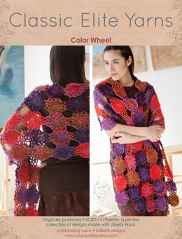 Color Wheel Shawl in Classic Elite Yarns Liberty Wool Prints - Downloadable PDF