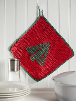 Holiday Potholder in Premier Yarns Home Cotton Solids - HCM003 - Downloadable PDF