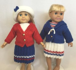 Sail Away with Me, Knitting Patterns fit American Girl and other 18-Inch Dolls