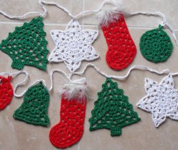 Christmas bunting - granny style
