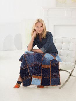 Audie Baby Afghan in Lion Brand Jeans - L60185