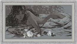 Riolis Silver Dream Cross Stitch Kit - 60cm x 30cm