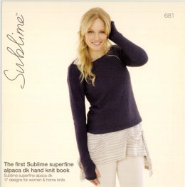 The First Sublime Superfine Alpaca DK Hand Knit Book By Sublime