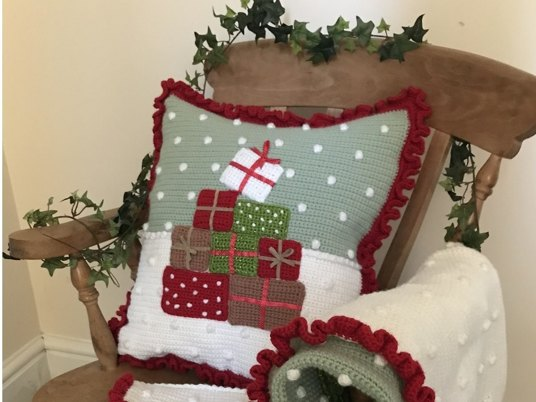 Cozy Crochet Christmas Cushion