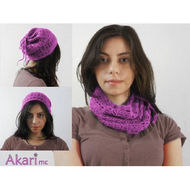 2 in 1 cowl and beanie crochet pattern_ L07