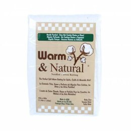 Warm and Natural Cotton Wadding: 60in x 45in (Crib)