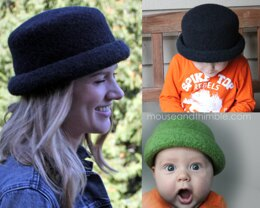Felted Bowler Style Hat UK TERMS 1723