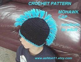 MOHAWK HAT, newborn to adult sizes