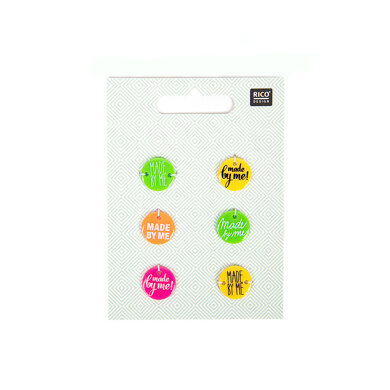 Rico Buttons With Font - Neon Mix