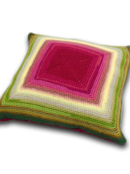 Glow Crochet Cushion in Rowan Pure Wool DK
