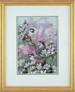Dimensions Gold Petite: Counted Cross Stitch: Spring Chickadees - 13 x 18cm