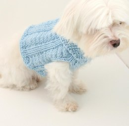 P06 Cabled Dog Sweater