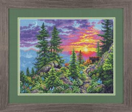 DimensionsSunset Mountain TrailCounted Cross Stitch Kit - 35.5 x 28cm