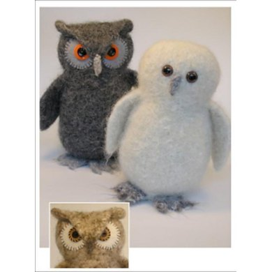 Felted Woolly Owl