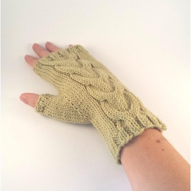 Double Cable Mittens