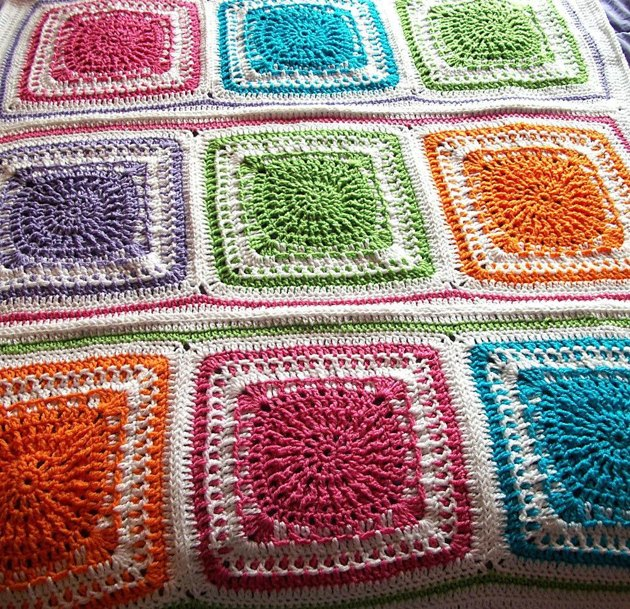 Autumn Warmth Afghan Square Crochet pattern by Sally Ives ...