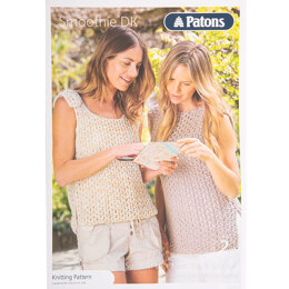 Lace Knits Top and Vest in Patons Smoothie DK - Leaflet