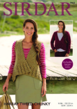 Cardigan and Waistcoat in Sirdar Harrap Tweed Chunky - 7903 - Leaflet