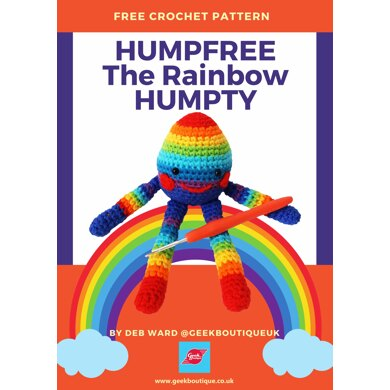 Humpfree The Rainbow Humpty Easter in Isolation Amigurumi