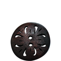 Brown Carved 20mm 2-Hole Button
